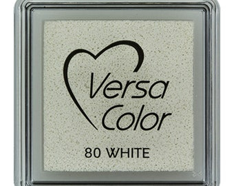 Versacolor pigment ink pads, small ink pad, versacolor 80 white, small pigment ink pads, stamp pads, versacolor stamp pad, white ink