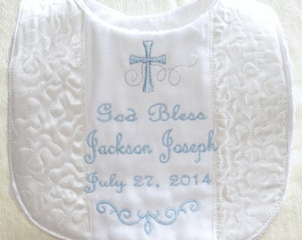 Custom Christening bib