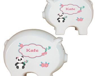 Personalized Panda Bear Piggy Bank