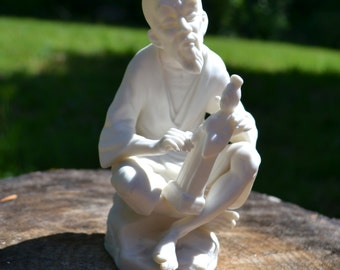 White Bisque Asian Figure Sculpting