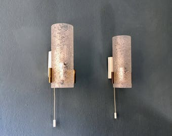 Beautiful mid-century modern brass wall lamps by Doria | Set of 2 | 1950 's |