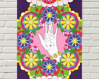 Kakemono Bohemian - Gypsy Mandala - Palm