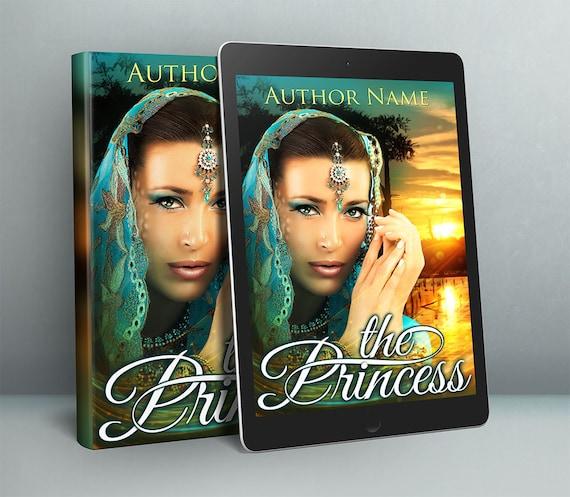 Premade fantasy woman portrait book cover art