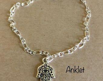 Hamsa Hand Anklet Bracelet
