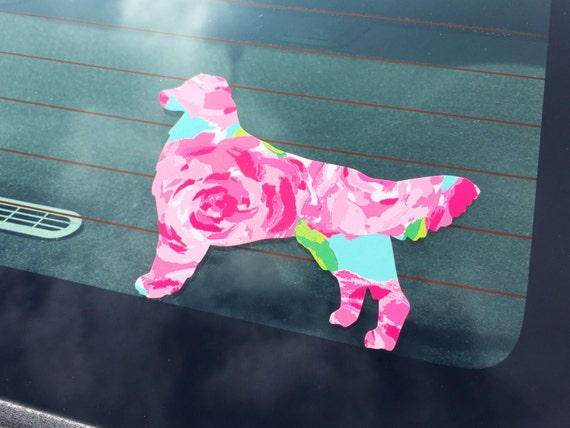 Southern Pup - Lilly Pulitzer Inspired Dog Decal
