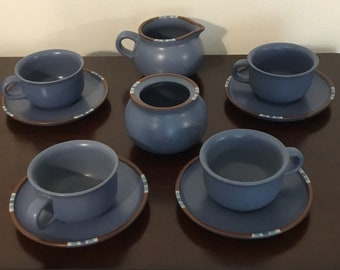 Dansk Sky Blue mesa dinnerware lot~10 pc. cups~saucers~creamer jar~sugar bowl & Dansk dinnerware | Etsy