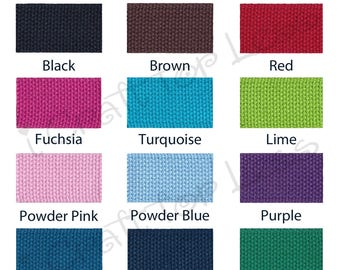 """Cotton Webbing - 20 Yards - 1.25"""" Heavy Weight for Key Fobs, Purse Straps, Belting - SEE COUPON"""