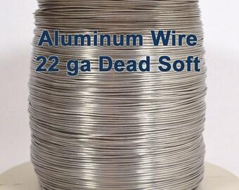 22ga Aluminum Wire - Dead Soft - Choose Your Length