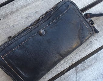 Vintage Black Italian Leather Wallet