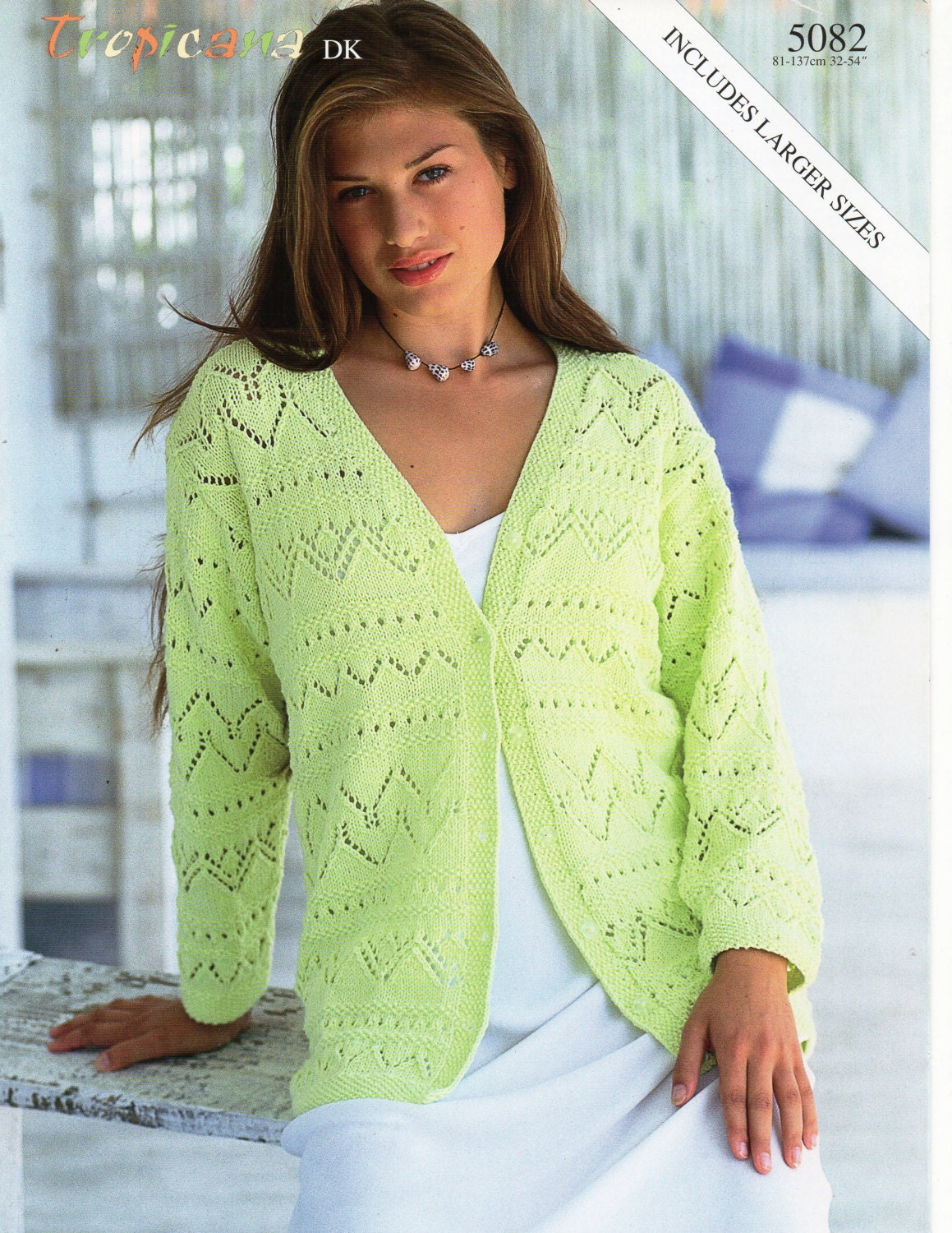 womens cardigan knitting pattern pdf download ladies lacy jacket ...
