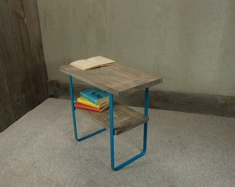 "Bedside table ""Slate Gray Beech"""