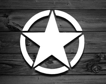 Military Star Vinyl Decal, Army Decal, Military Decal, Car Decal, Decal For Jeeps, US Army Decal, Army Wife, Army Mom, Laptop Sticker, Stars