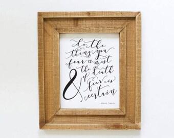 Printable Mark Twain Quote