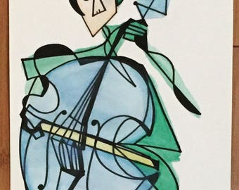 The Cellist at Oud Sint-Jan 8 x 10