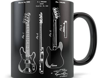 Bass guitar gift, bass guitar coffee mug, bassist gift, bass guitar gift idea, bassist mug, bass guitar gift for men / women, les paul mug