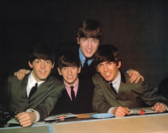 The Beatles - Publicity post card photo 1989 repro of early Beatles years