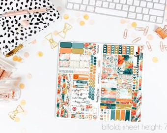 Tigerlily TN STANDARD Weekly Kit // 120+ Matte Planner Stickers // Perfect for your Standard Size Traveler's Notebook // TNS0250