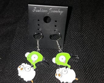 Gir piggy invader zim earrings