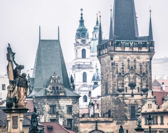 "Prague Photography, Prague Print, Charles Bridge, ""Grand Entrance"""