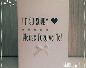 I'm Sorry Card, Sorry Card, I'm So Sorry Card, Apology Card, Greetings Card, Card