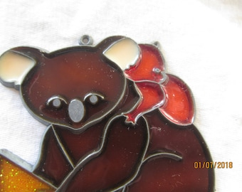 Koala Bear - Sun Catcher - Mama with Baby - Window  Catcher