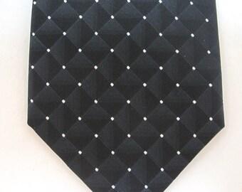SALE-Vintage 90's Van Heusen black with white dots tie