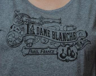 T-Shirt La Dame Blanche Victorian Parisian Dolman or Unisex V-Neck Shirt
