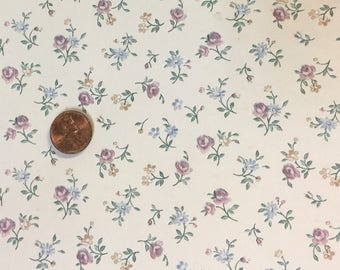 Shabby Chic Dollhouse wallpaper Florals - Free Shipping to the US