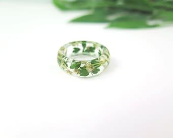 Real flower Resin ring, natural ring, Flower ring, flower jewelry, Pressed flower jewelry, resin jewelry, Botanical ring, gift idea for her