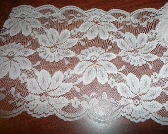 5 1/4 Inch Flat Pale Pink Floral Lace You Choose Quantity
