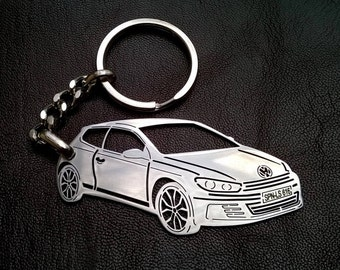 VW scirocco Keychain, fathers day gift, VW Keychain, vw scirocco, Personalized Keychain, Custom Keyring, personalised keyring, birthday gift