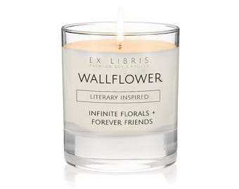 WALLFLOWER Candle, Book Lover Gift, Book Lover Candle, Book Scented Candle, Literary Candle, Book Inspired Candle, Book Candle