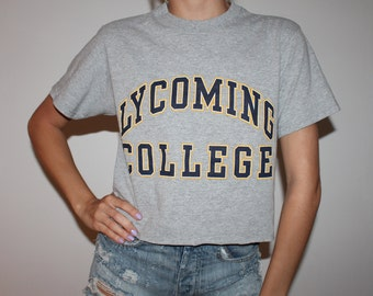 Lyoming College Vintage Graphic t-shirt (one of a kind) College Tailgate Game Day Tshirt