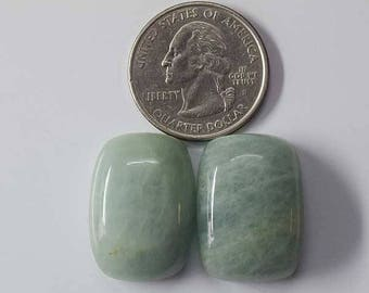 Natural Aqua Marine Gemstone Cabochon 2 Pieces  smooth cabochons 15 Grams Loose Gemstones calibrated . [7295]