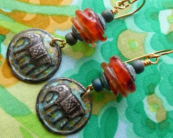 Elephants In The Room, Pewter Charms, Elephant Charms, Boho Jewelry, VesuviusArts, silverfishdesigns, Northernblooms