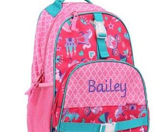 Personalized Girls  Backpack- Preschool Backpack Princess Backpack Stephen Joseph Backpack