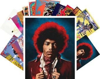 Postcards Set 24pcs * Jimi Hendrix Vintage Posters Movies Comic Artwork CC1201
