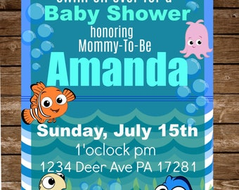 Finding Nemo Baby Shower Invitation
