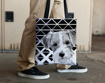 Jack Russell Graphic Tote bag, Jack Russell Mom, Jack Russell lovers, Jack Russell Gift, Jack Russell Carry All, Mothers Day Gift