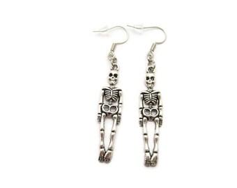 Skeleton  Earrings Anatomy Earrings Halloween Earrings Choose Hooks Skeleton Jewelry Skeleton Earrings Halloween Everyday Halloween Jewelry