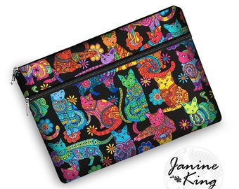 macbook pro 13 case, colorful cats tablet case, laptop bags for women, iPad Pro 12.9 Case, macbook pro case, 13 inch laptop sleeve,  RTS