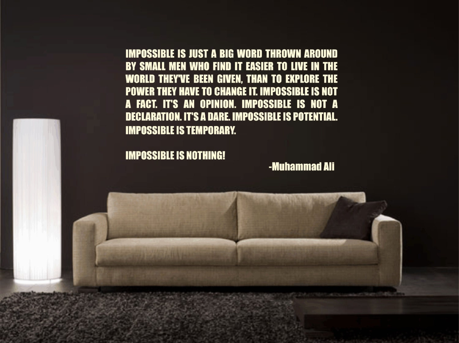 Impossible Is Nothing Quote Muhammad Ali Impossible Is Nothing Inspirational Quote Vinyl