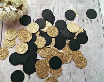 Gold Pink Black Confetti (240pc) Pink and Black Confetti Black and Gold confetti Gold confetti Black Confetti Circle confetti Gold Shower