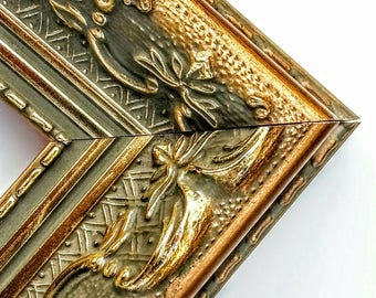 Louis XV Ornate Gold Picture Frame, Gold Ornate Photo Frame, Wood, Custom Frames, 4x6, 5x7, 8x10, 11x14, 9x9, 16x20, 18x24, 20x24, 24x36