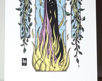 Spring Pyre - A5 Digital Print