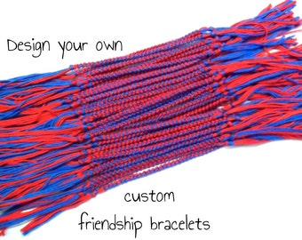 30 Custom Friendship Bracelets - Bulk Order Form - Bulk Friendship Bracelets