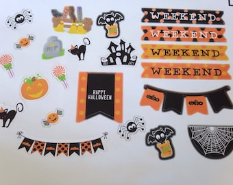 Halloween  stickers For Planner, Erin Condren, Filofax, Scrapbooking