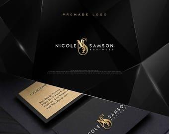 Luxury Custom Monogram, Premade Gold Foil Logo, Photography Logo, Watermark,Wedding Logo, , Elegant, Rose Gold Foil, Minimal Logo, Botique