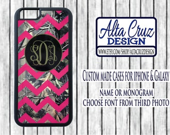Personalized Chevron Camouflage cell phone case, iPhone or Galaxy, name or monogram #121