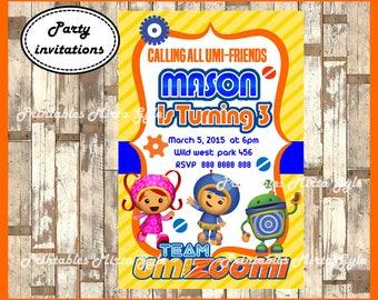 Team Umizoomi Invitation, printable Team Umizoomi Invitation, Team Umizoomi birthday invitation